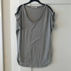 Anthropologie Black and white striped shirt